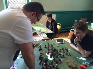 A photo! This was taken early on in my game against Paul